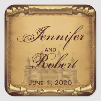 Once Upon a Time Wedding Envelope Seal