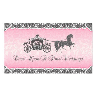 Once Upon A Time Wedding Horse & Carriage Business Card