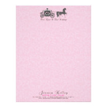 Once Upon A Time Wedding Horse & Carriage Letterhead