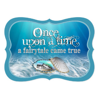 """Once Upon A Time Wedding Invitation 5"""" X 7"""" Invitation Card"""