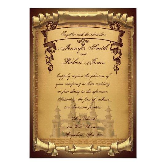 once upon a time wedding invitation. Black Bedroom Furniture Sets. Home Design Ideas