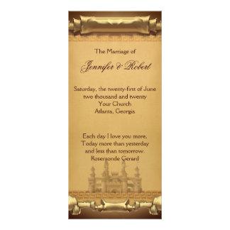Once Upon a Time Wedding Program Custom Rack Card