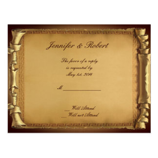 Once Upon a Time Wedding RSVP Postcard