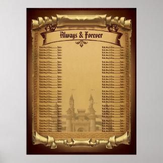 Once Upon a Time Wedding Seating chart Print