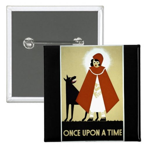 Once Upon a Time - WPA Poster - 2 Inch Square Button