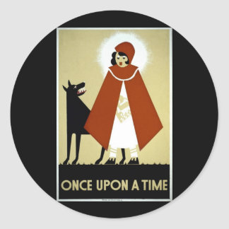 Once Upon a Time - WPA Poster - Classic Round Sticker
