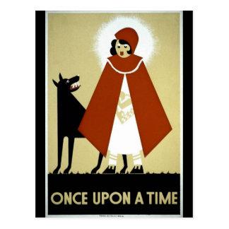 Once Upon a Time - WPA Poster - Postcard