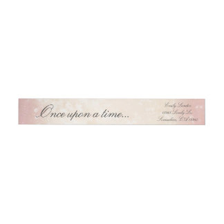 Once Upon a Time Wrap Around Label