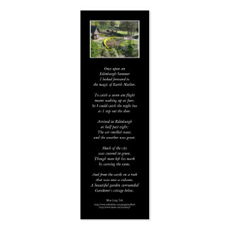 'Once upon an Edinburgh Summer' poetry bookmark Double-Sided Mini Business Cards (Pack Of 20)