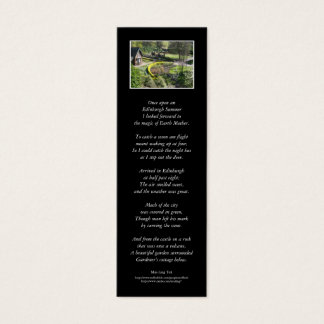 'Once upon an Edinburgh Summer' poetry bookmark Mini Business Card