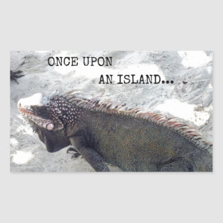 Once Upon an Island... Rectangle Sticker