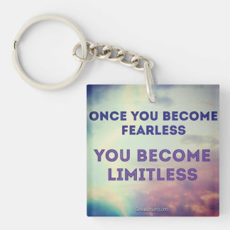 once you become fearless keychain