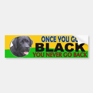Once You Go Black... Lab Car Bumper Sticker