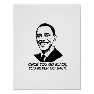 ONCE YOU GO BLACK, YOU NEVER GO BACK.png Posters