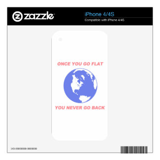 Once You Go Flat You Never Go Back - Flat Earth Decal For iPhone 4