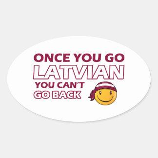 Once you go Latvian Sticker