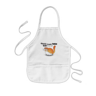 Once you snuggle a fat cat you never go back! kids' apron