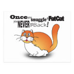 Once you snuggle a fat cat you never go back! post card