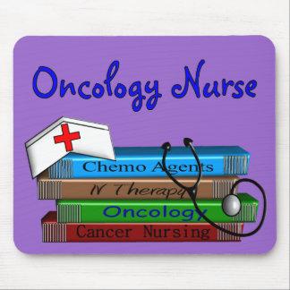 "Oncolgoy Nurse ""Books"" Design Mousepads"