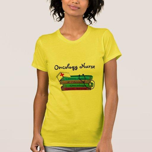 """Oncolgoy Nurse """"Books"""" Design Tshirts"""