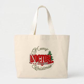 ONCOLOGIST DOCTOR MERRY CHRISTMAS LARGE TOTE BAG