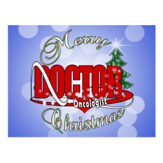 ONCOLOGIST DOCTOR MERRY CHRISTMAS POSTCARD