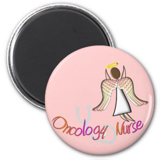 Oncology Nurse Angel 2 Inch Round Magnet