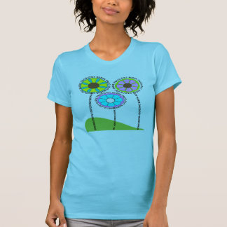Oncology Nurse Artsy Flowers T-Shirts