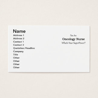 Oncology Nurse Business Card