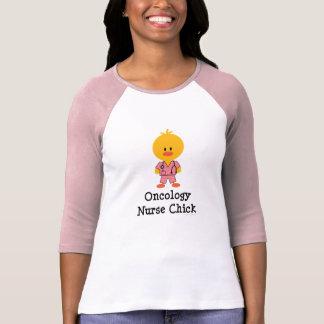 Oncology Nurse Chick Raglan Tshirt