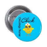 Oncology Nurse Chick v1 Pinback Button