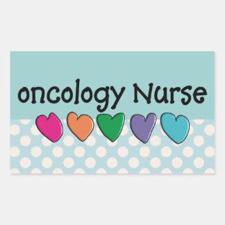 Oncology Nurse Gifts Unique Design Rectangular Sticker