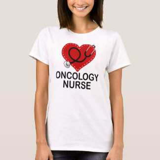 Oncology Nurse Heart Stethoscope T-Shirt