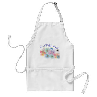 Oncology Nurse Whispy Angels & Flowers Design Adult Apron