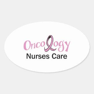 ONCOLOGY NURSES CARE OVAL STICKER