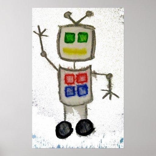 Onda #2 del robot póster