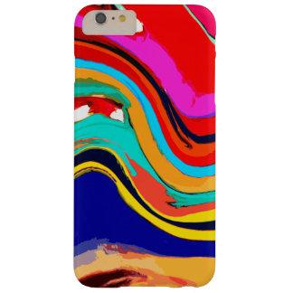 Onda abstracta colorida del caso más del iPhone 6 Funda Para iPhone 6 Plus Barely There