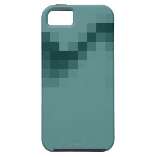 Onda abstracta del diseño de los cuadrados en verd iPhone 5 Case-Mate coberturas