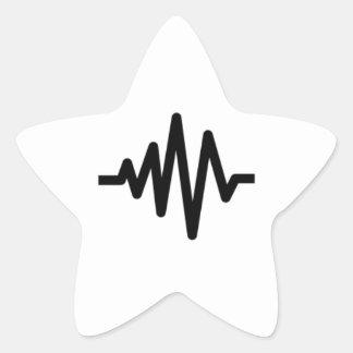 Onda acústica de la música pegatina en forma de estrella