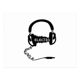 Onda audio electro Elektro MU de Kopfhörer de los Tarjetas Postales