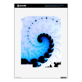 Onda azul - arte del fractal pegatina skin para iPad 3