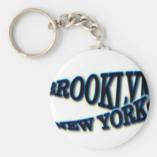 Onda azul de Brooklyn NY Llaveros