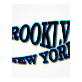 Onda azul de Brooklyn NY Membrete