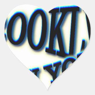 Onda azul de Brooklyn NY Pegatina En Forma De Corazón