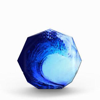 onda azul del estilo fresco de la resaca