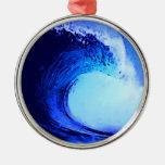 onda azul del estilo fresco de la resaca ornamento para reyes magos