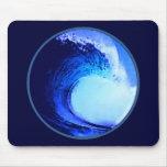 onda azul del estilo fresco de la resaca tapetes de ratón