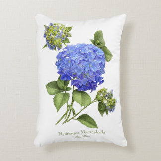 Onda azul del Hydrangea Cojín Decorativo