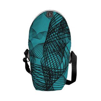 onda azul del modelo de la cinta bolsas de mensajería