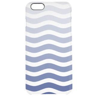 Onda azul Ombre Funda Clearly™ Deflector Para iPhone 6 Plus De Unc